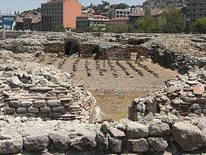 Roman Baths of Ankara - Image: Ankara Roma Hamamı Hypocaust