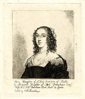 John Harrison (died 1669) - Portrait of Sir John Harrison's daughter Ann, who married Sir Richard Fanshawe, 1st Baronet and Ambassador to Spain.