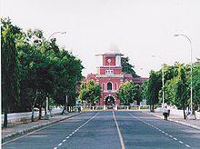 The main entrance to Anna University