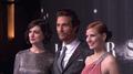 Anne Hathaway, Matthew McCounaughay & Jessica Chastain Interstellar premiere.png
