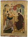 Annunciation from Kirillo-Belozersky iconostasis (15th century, Russia).jpg