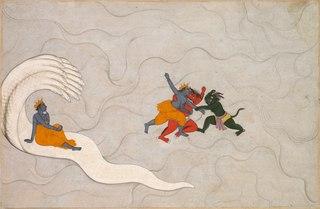 Vishnu Battles Madhu and Kaitabha, from a Markandeya Purana