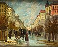 Antal Berkes street scene with carriages.jpg