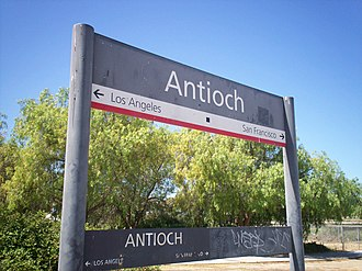 Antioch–Pittsburg station - Image: Antioch California Amtrak Station 2