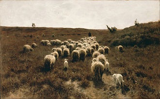 Anton Mauve - The Return of the Flock, Laren