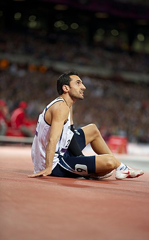 Antonis Aresti -  Antonis Aresti after the 400m T46 final race for the London 2012 Paralympics
