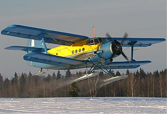 Antonov An-2 - An-2R on skis allowing operations in the snow