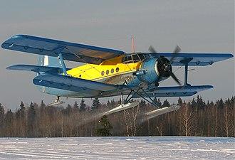 Suicide by pilot - Image: Antonov An 2R on ski Ryabtsev