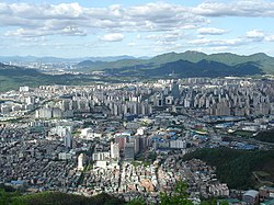 Anyang city from Suri mountain.