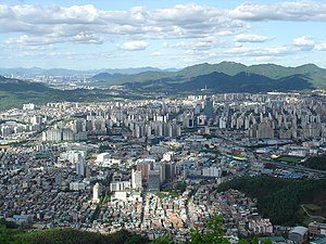 Anyang, Gyeonggi - Anyang city from Suri mountain.