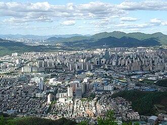 Anyang, Gyeonggi - Anyang city from Suri mountain.