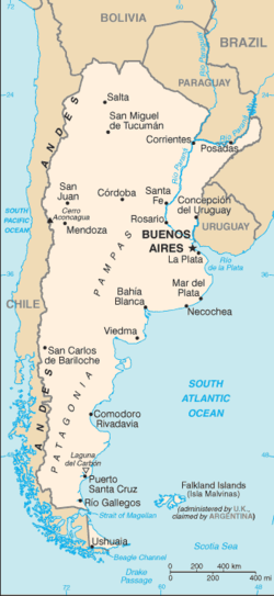 List Of Cities In Argentina Wikipedia - Argentina map cities