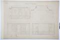 Arbetsritning för fastigheten nr 4 Hamngatan. Inredning av sängkammaren - Hallwylska museet - 105256.tif