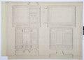 Arbetsritningar, fastigheten nr 4 Hamngatan. Inredning av kabinettet - Hallwylska museet - 105314.tif