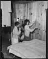 Arcadia, California. Evacuees of Japanese ancestry are getting settled in their temporary quarters . . . - NARA - 537410.tif