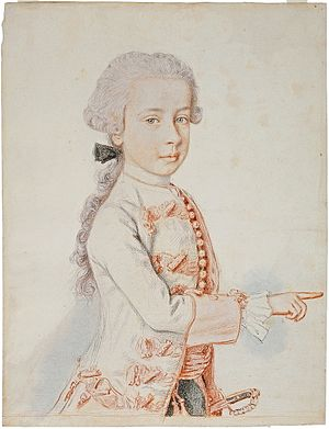 Ferdinand, Duke of Breisgau - Portrait by Liotard in 1762