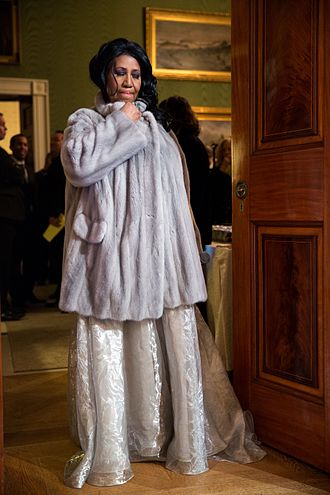 Aretha Franklin - Franklin preparing to perform at the White House in 2015