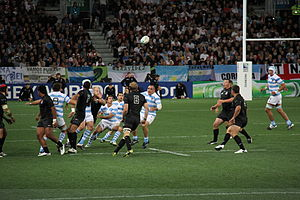 Sport in Argentina - Argentina facing England at the 2011 Rugby World Cup.