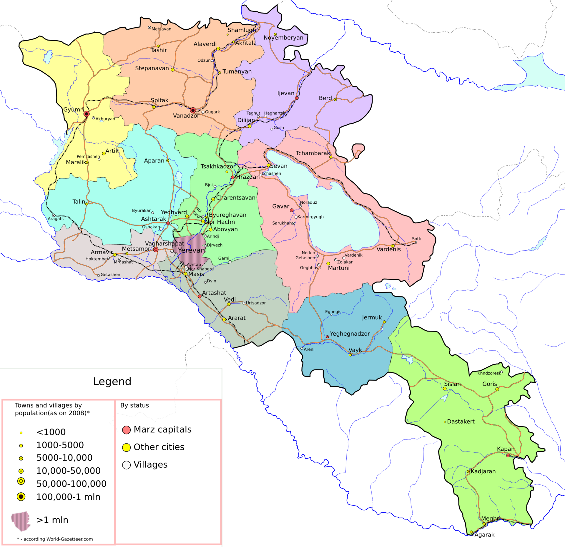 List Of Cities And Towns In Armenia