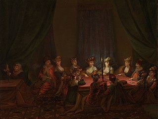 Party of Armenians Playing Cards