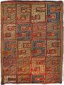 Armenian Pileless Dragon carpet Teltogh (leftover thread weaving),19th century, village of Ktsaberd, province of Dizak, Artsakh, wool, cotton, red warp, 220 x 327 cm, HMA E-11178.jpg