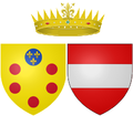 Arms of Maria Maddalena of Austria as Grand Duchess of Tuscany.png