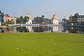 Arrested Kachuripana - Pond Shivaganga with Krishnachandreswar and Raktakamaleswar Twin Shiva Mandir - Bhukailash Rajbati Estate - Kidderpore - Kolkata 2016-01-24 9232.JPG