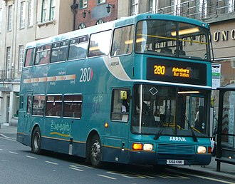 Arriva Shires & Essex - Northern Counties Palatine 2 bodied Volvo Olympian on route 280 in Oxford in October 2008