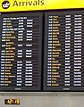 Arrivals board, Heathrow T5, April 16 2010, crop.JPG