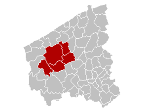 Arrondissement of Diksmuide - Image: Arrondissement Diksmuide Belgium Map