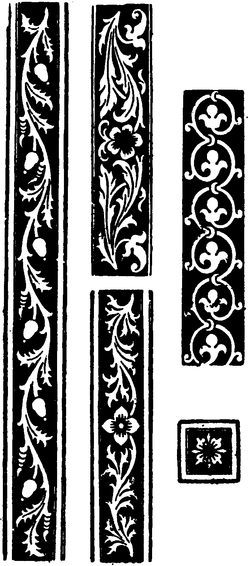 Illustration of floral patterns.