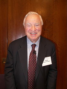 Frommer after speaking at New York University in 2007