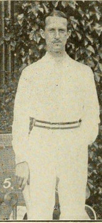 Arthur Lowe (tennis) - Lowe in 1914