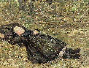 Adolph Artz - Image: Artz Meisje slapend in het bos
