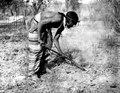 Ashluslay; man med spade, jordbrukare. El Gran Chaco, Gran Chaco. Bolivia - SMVK - 004682.tif