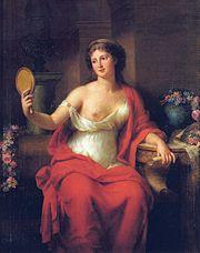 Autorretrato de Marie Bouliard retratada como Aspasia, 1794.