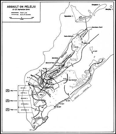 Assault on Peleliu - Map