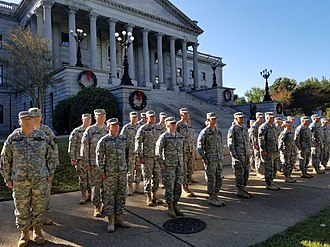 South Carolina State Guard - Members of the Historic South Carolina State Guard in formation at the SC State House in Columbia, SC