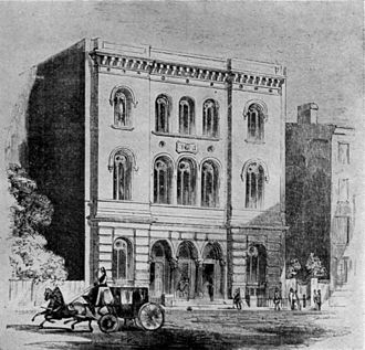 Astor Library - The Astor Library building in 1854