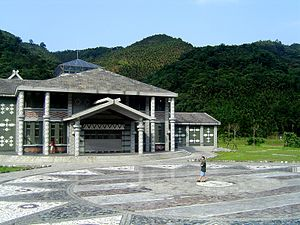 Atayal people - Traditional aboriginal designs are often found on modern buildings in Taiwan in places where aborigines traditionally live. Here is an Atayal-inspired community center in rural Ilan County.