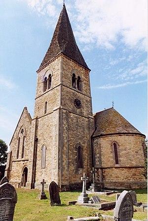 Romanesque Revival architecture in the United Kingdom - Aubourn Church, Lincolnshire 1862-3