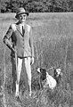 Audrey Griscom in hunting attire with dogs - Leon County (24715880518).jpg