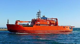 Aurora Australis (icebreaker) - Image: Aurora Australis, Fremantle, 2016 (04)