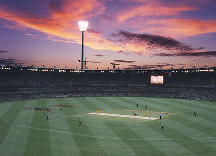 Cricket game at The Gabba Australia vs South Africa.jpg