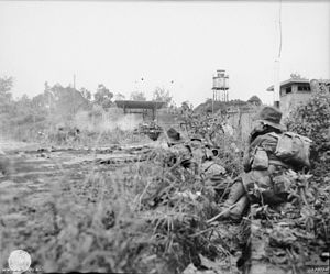 2/24th Battalion (Australia) - Troops from the 2/24th fighting on Tarakan, 1945
