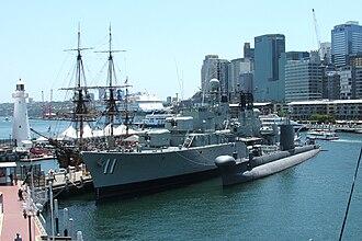 HMAS Vampire (D11) - Image: Australian national maritime museum ships cr