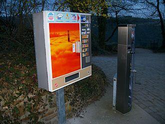 Cigarette machine - German cigarette machine (with age verification)
