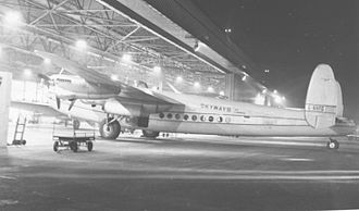 Skyways Limited - Avro York of Skyways being serviced at Manchester Airport during a trooping flight to Jamaica in 1952