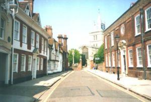 Architecture of Aylesbury -  An 18th-century street, Aylesbury.