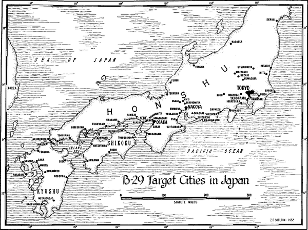 Japanese cities attacked by B-29 bombers during World War II B-29 target cities in Japan.png